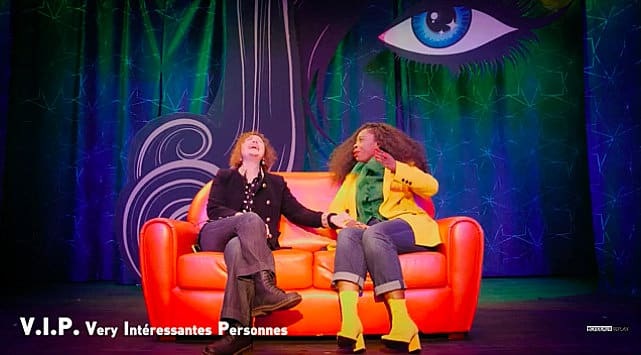 Isabelle Camus et Naho Collin on stage